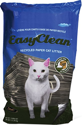 Easy Clean Paper Pellet Cat Litter Bag, 26-Pound (Recycled Paper Pellets)