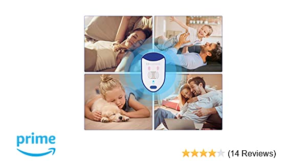 MARNUR Ultrasonic Plug in Device - Electronic Portable with Night Light (6pcs for a Pack)