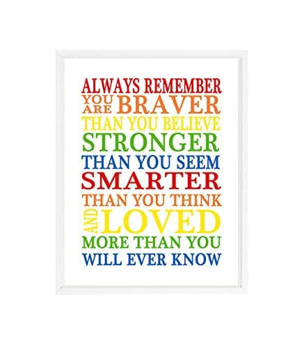Go Out Explore Rainbow Quote Print