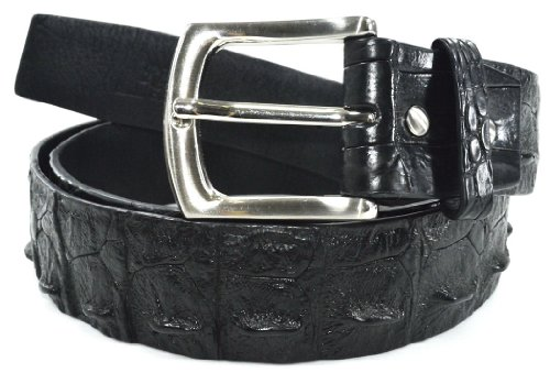 Authentic River Crocodile Skin Men's Big Hornback Pin Belt 37