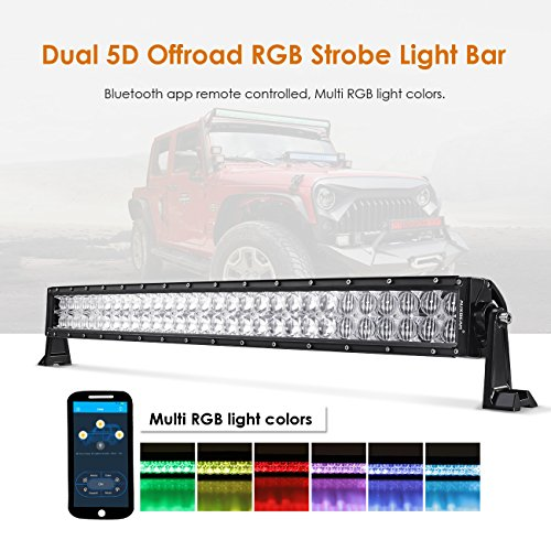 32 inch led light bar rgb multi