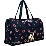 Cheap Betty Boop Black Duffel Canvas kick Shoulder L 19″ Travel Overnight Bag Sport