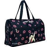 Cheap Betty Boop Black Duffel Canvas kick Shoulder L 19″ Travel Overnight Bag Sport