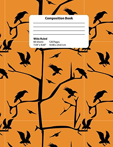 Composition Book: Raven Wide Ruled 120 Pages Notebook]()