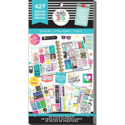 Me amp My Big Ideas PPSV082048 Create 365 The Happy Planner Sticker Value Pack Planner Quotes