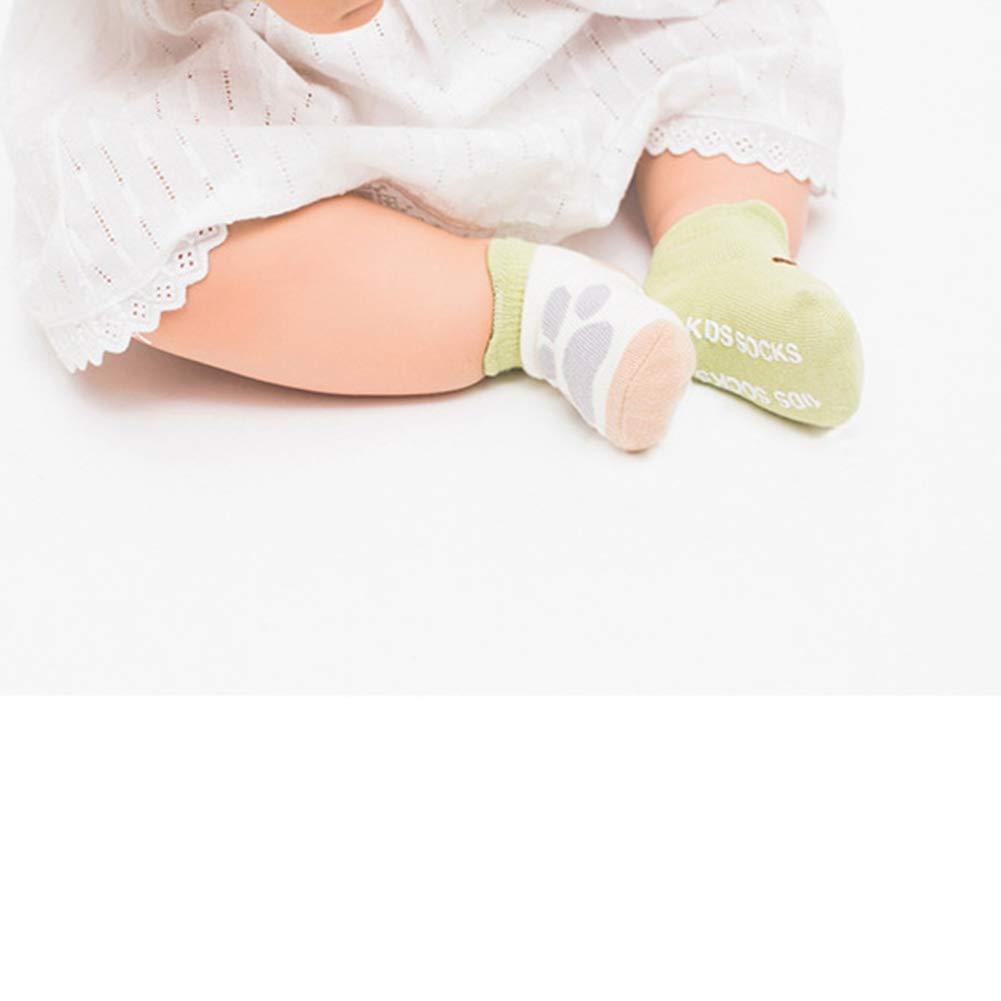 3Pairs Baby Toddler Socks Girls Boys Unisex Non Skid Socks Newborn Cotton with Grips Neutral Soft Anti Slip
