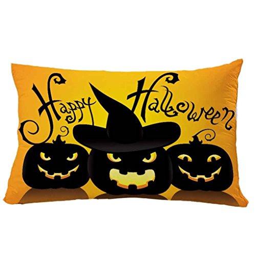 - BOKOLI NEW Halloween Rectangle Cushion Case Pillowcase Zipper Closure Pillow Cover (12X20 inches, A)