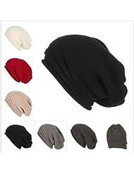 bec290389eb62 Malbaba Men Women Baggy Warm Crochet Winter Wool Knit Ski Beanie Skull  Slouchy Solid color Caps