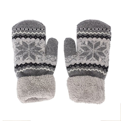 Clearance!Women Gloves,Haoricu Fashion Autumn Winter Snow Outdoor Sport Warm Women's Gloves (Grey)