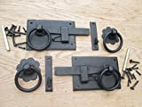 IRONMONGERY WORLD? VINTAGE OLD ENGLISH COUNTRY COTTAGE STYLE RING GATES DOORS SHEDS LATCH HANDLES (BLACK BEESWAX RIGHT HUNG/RIGHT HANDED) by Ironmongery World