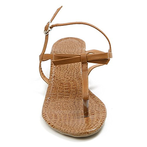 Color Sandal Ollio Flop T Multi Women's Strap Brown Flip rSRrqY0