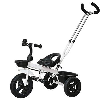 GIFT Carro De Bebé De Uso Dual con 3 Ruedas Triciclo De Bebé Bicicleta Cochecito Infantil