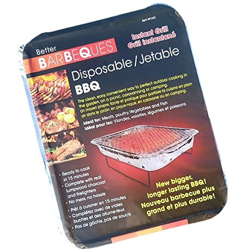 Better Barbeques Disposable Instant BBQ Grill - The Clean, Easy, Convenient Way to Perfect Outdoor Cooking in The Garden, on a Picnic Or Camping, All You Need is a Match! by Better Barbeques