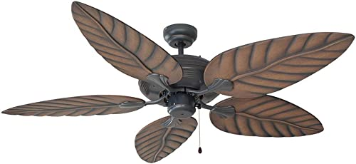 Design House 154104 Martinique Indoor Outdoor Ceiling Fan 52 , Oil Rubbed Bronze