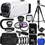 Canon VIXIA HF R700 Full HD Camcorder (White) Bundle with Carrying Case and Accessory Kit (19 Items)