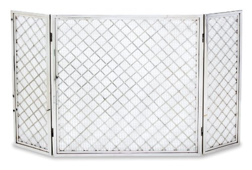 Pilgrim Home and Hearth 18242 Hartwick Tri Panel Fireplace Screen, Polished Nickel, Center 30