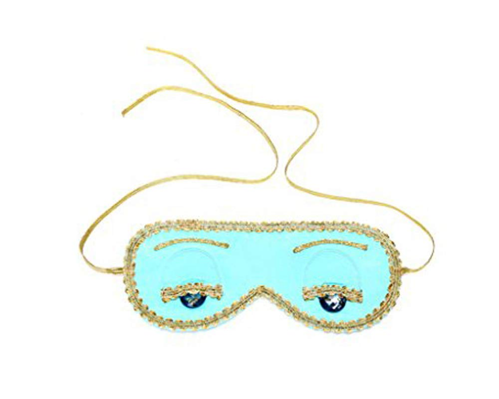 Utopiat Audrey Style Silk Blue Sleep Eye Mask Inspired by Breakfast at Tiffany's by Utopiat