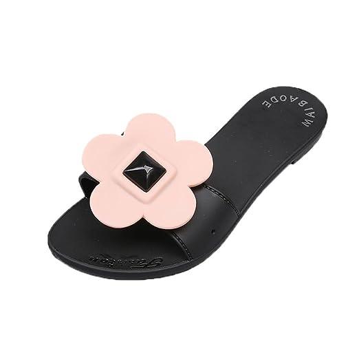 b9a12490fc22b Amazon.com: Hunzed Women Sandals, Summer { Flower Flat Sandals ...