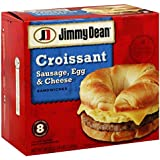 JIMMY DEAN BREAKFAST SANDWICH SAUSAGE, EGG & CHEESE CROISSANT 36 OZ PACK OF 2