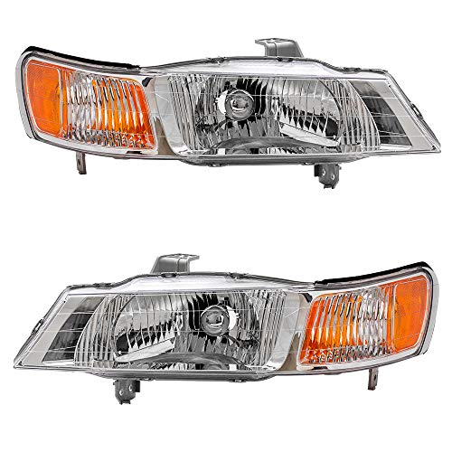 - Driver and Passenger Headlights Headlamps Replacement for Honda Van 33151-S0X-A01 33101-S0X-A01