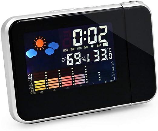 Khool® Despertador Digital con Estación Meteorológica y Proyección ...