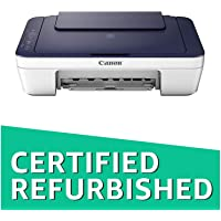 (CERTIFIED REFURBISHED) Canon Pixma E477 All-in-One Wireless Ink Efficient Colour Printer (White/Blue)
