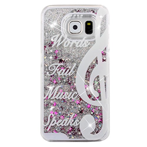 S6-CaseGalaxy-S6-CasePHEZEN-Galaxy-S6-Bling-CaseCrystal-Clear-Creative-Design-3D-Funny-Flowing-Bling-Glitter-Stars-Hard-Case-Cover-for-Samsung-Galaxy-S6