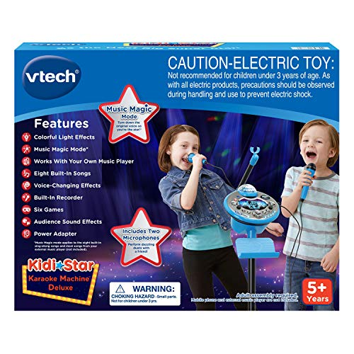 VTech Kidi Star Karaoke System 2 Mics with Mic Stand & AC Adapter, Blue by VTech (Image #6)