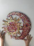 Sun Wall Piece / Sun Catcher - Copper and Glass