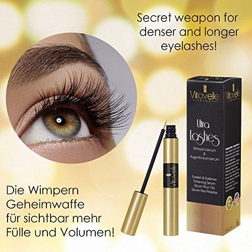 e7cf8e0a570 Wimpernserum & Augenbrauenserum 8 ml I Lash Booster I Serum für  Wimpernverlängerung und Wimpern-Volumen