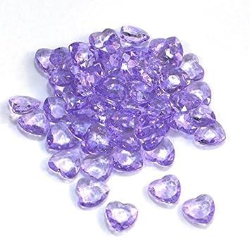 Sideso Dekosteine Herzdiamanten Herzen 100 Stuck Viele Farben Acryl