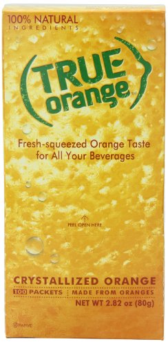 True citrus orange 100 count, red 4 authentic, fresh-squeezed taste without the seeds, mess or waste 1 packet = taste of 1 wedge simple, clean ingredients: no artificial flavors, preservatives & non-gmo