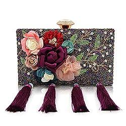 Handmade Beaded Flower Bag
