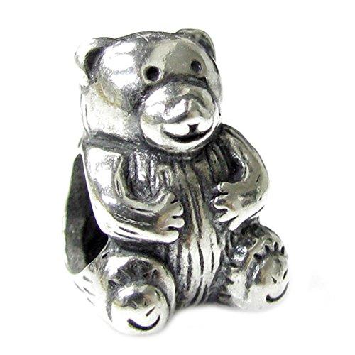 Sterling Silver Teddy Bear Charm - 9