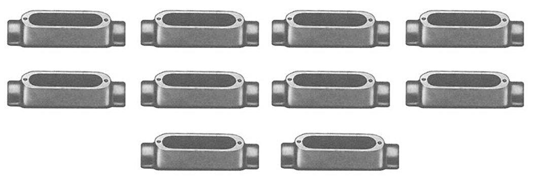 10-Pack Bridgeport C-42 3//4-Inch Aluminum Type-C Rigid Conduit Body