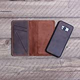 Personalized Magnetic Leather Phone Wallet for iPhone 6/6S, 6/6S Plus, 7/8, 7/8 Plus, X/XS/ XMax, Samsung Galaxy S8, S8 Plus, S9, S9 Plus, Note 8 - McLean Mahogany Brown