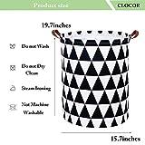 CLOCOR Laundry Basket Laundry Hamper Canvas Fabric