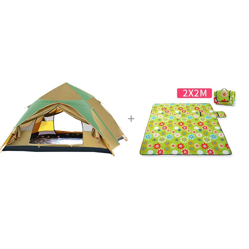 PIGE Zelt Outdoor 3-4 Personen Vollautomatische Campingplatz Familie Freizeitzelte 240  210  145cm