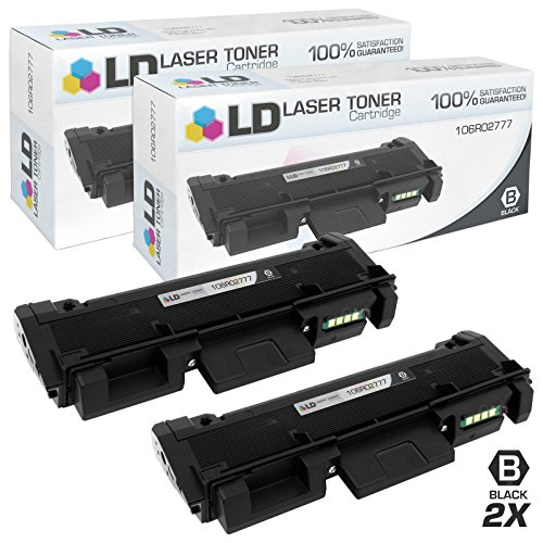 Compatible Xerox Toner Phaser (LD Compatible Xerox 106R02777 Set of 2 HY Black Toner Cartridges for Phaser 3260/DNI, 3260/DI, WorkCentre 3215/NI, & 3225/DNI)