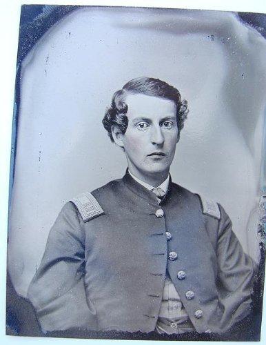 - Photo: Unidentified Soldier,Union Captain's Shell Jacket,American Civil War,c1865