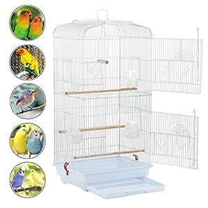 Amazon.com: Yaheetech - Jaula para pájaros de tamaño mediano ...