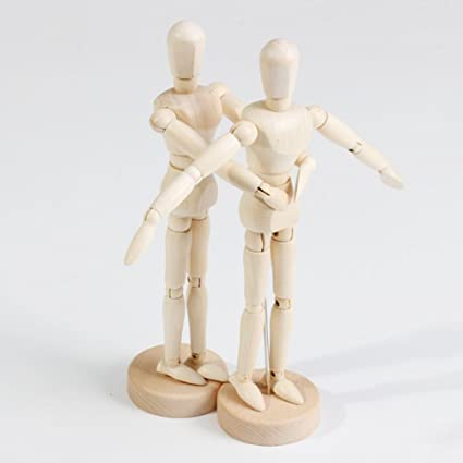 WaNana 4.5-16The Multi Size Human Figure Wooden Manikin Jointed Mannequin with Stand for Home Decoration Artists Drawing Body Dynamic Model of Sketch 4.5//11cm