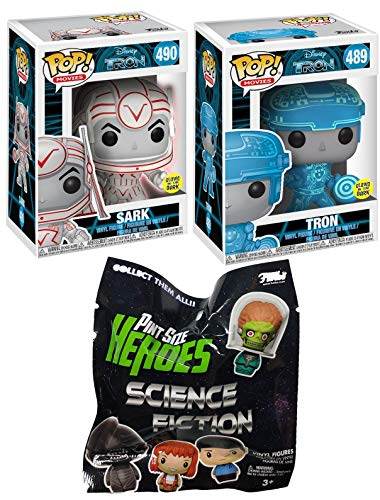 Sci-Fi Figure Pack Pint Size Heroes Blind BagBundle with Tron 489 & Sark 490 Pop! Vinyl Characters 3 Items ()