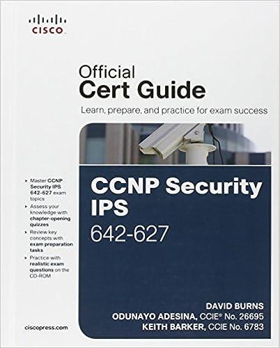 Ccnp security ips 642 627 official cert guide david burns odunayo ccnp security ips 642 627 official cert guide david burns odunayo adesina keith barker 0619472142554 amazon books fandeluxe Gallery