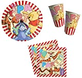 Winnie the Pooh Party Pack 8 Plates, 8 Cups and 20 Serviettes