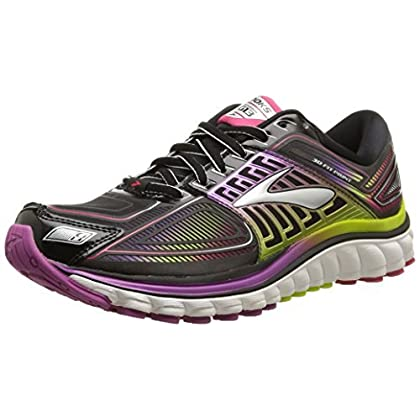 8bccbb5e6e1fb Brooks Women s Glycerin 13 Running Shoe - Black hyacinth Violet virtual Pink  - 6 2A - Narrow