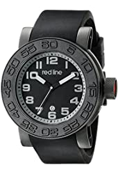 red line Men's RL-50051-BB-01-GRYA Xlerator Analog Display Japanese Quartz Black Watch