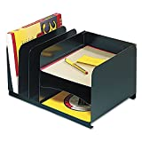 SteelMaster 26420HV004 Vertical/Horizontal Combo Organizer, Six Sections, Steel, 15 x 11 x 8 1/8 BLK