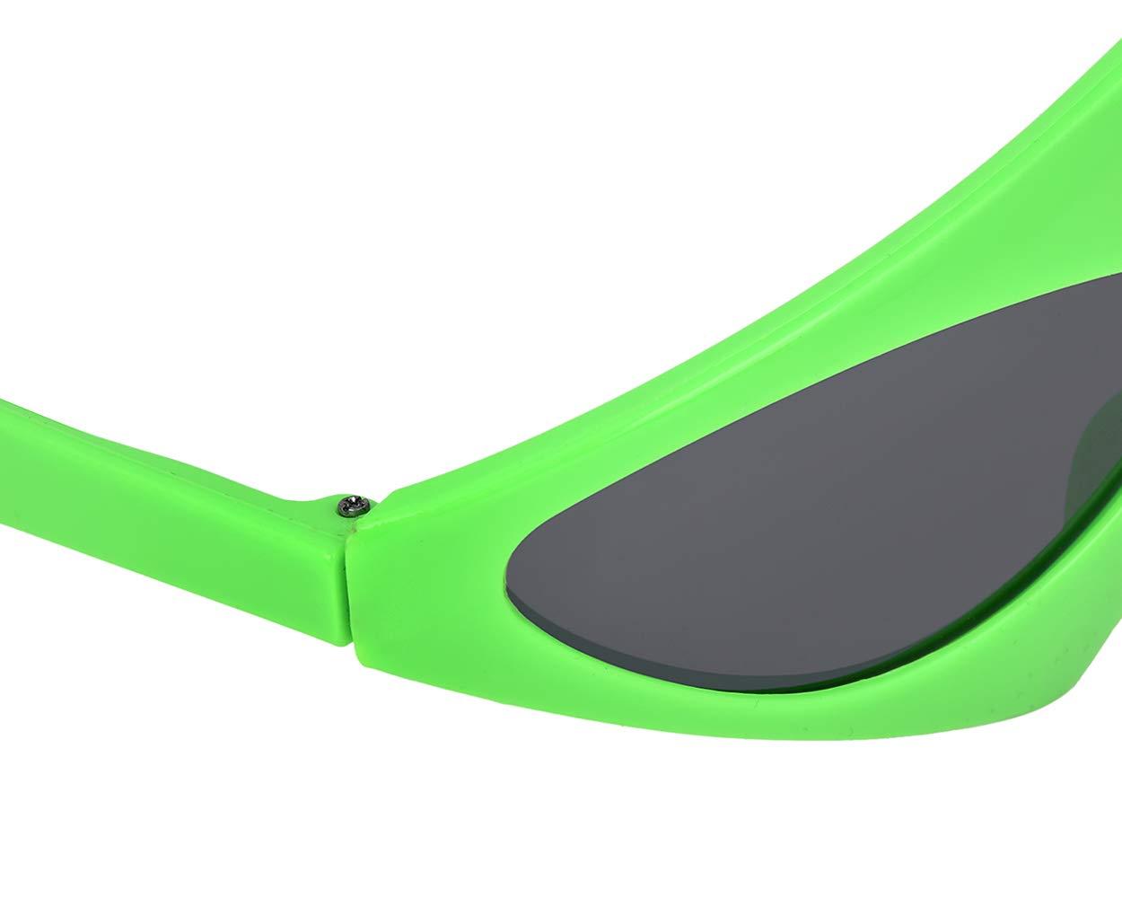 SCSpecial Novedad Gafas de Sol de Fiesta 80s Gafas asimétricas de Color Rosa y Gafas de neón Verdes para la Fiesta de Halloween de Hip Hop Dance