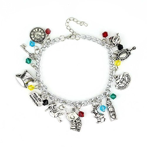 In Costumes Of Alice Hearts King Wonderland (Alice In Wonderland 11 Charms Lobster Clasp Bracelet in Gift Box by)